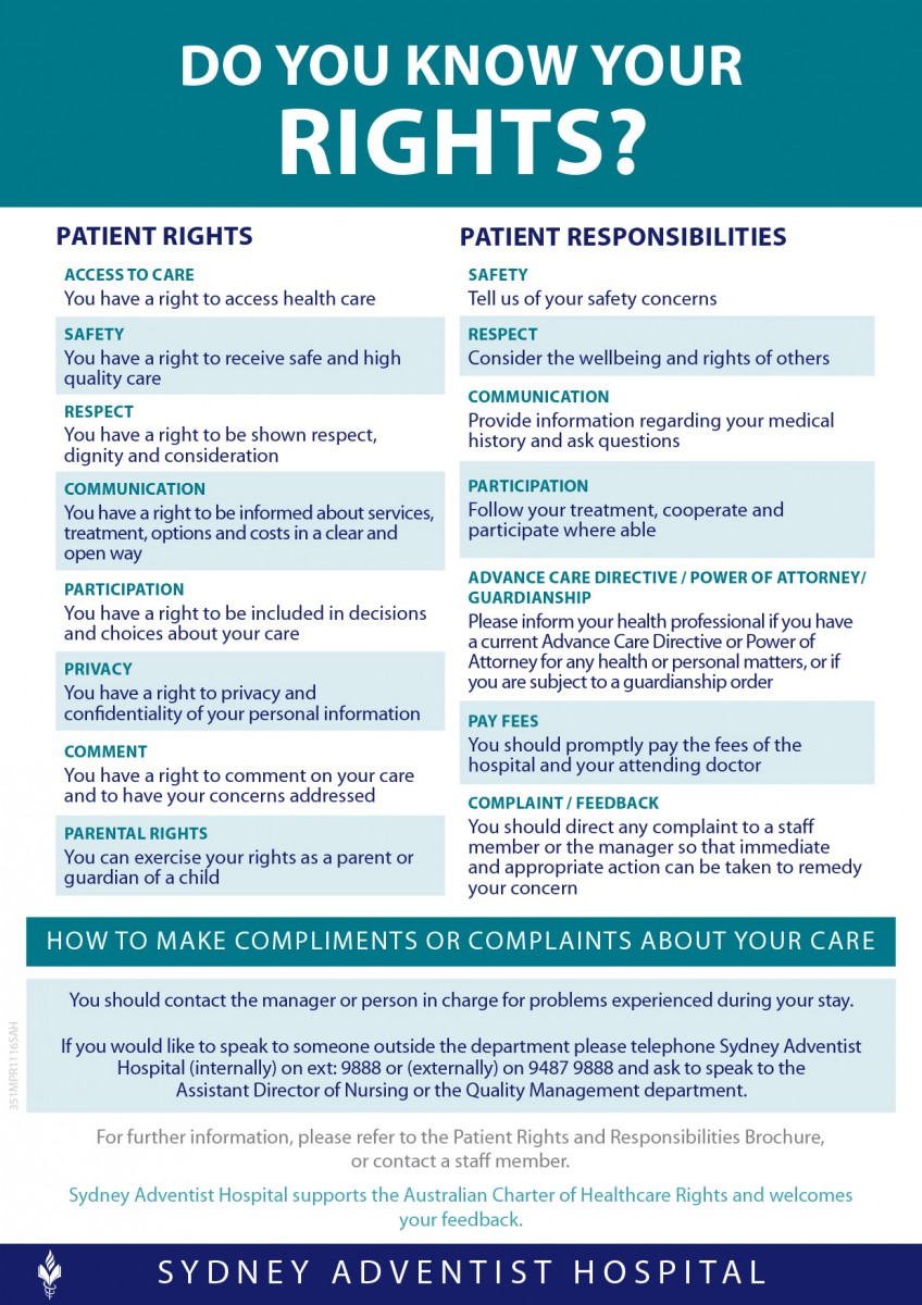 san patient rights and responsibilities patient rights responsibilities