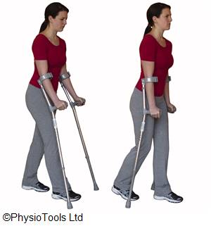 Prehab exercises for using stairs or crutches