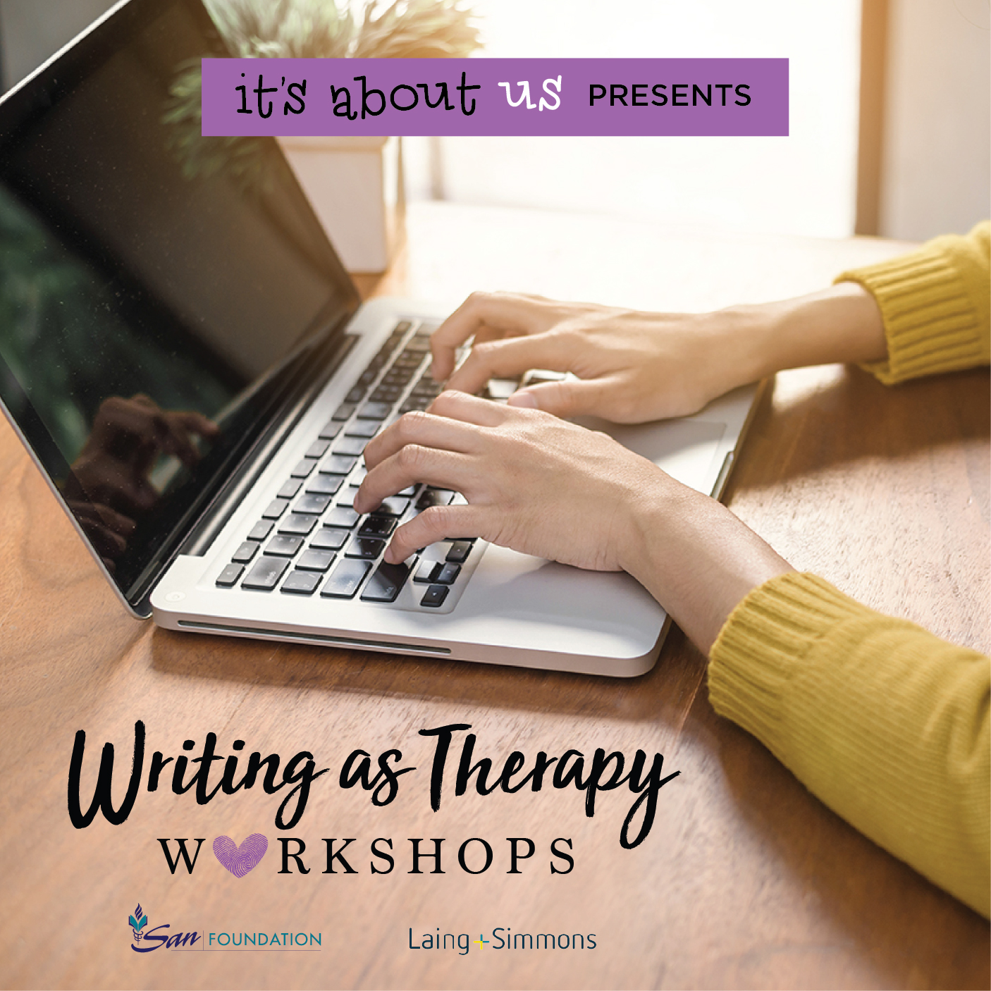 it's about us writing as therapy workshops